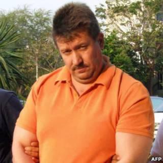 Виктор Бут сразу после ареста в Таиланде