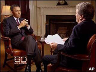 O presidente americano, Barack Obama, em entrevista à CBS (Divulgação/CBS/Agência AP)