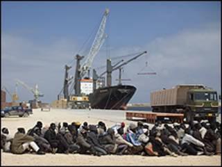 Wasu 'yan Afrika bakar fata a Benghazi