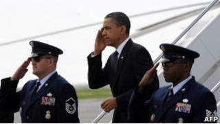 Президент Обама прибыл в Нью-Йорк