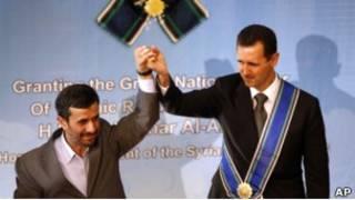 بشار اسد و احمدی نژاد