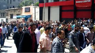 Протесты в сирийском городе Баниас