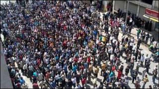 Протести в місті Баніас, 6 травня