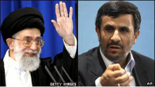 محمود احمدی نژاد و آیت الله علی خامنه ای