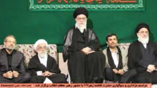 حضور احمدی نژاد در مراسم دفتر رهبری