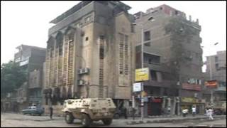 Церковь, сожженная в ходе столкновений в Каире