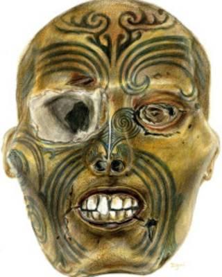 Голова воина маори