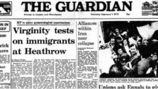Первая страница газеты Гардиан 1979 года