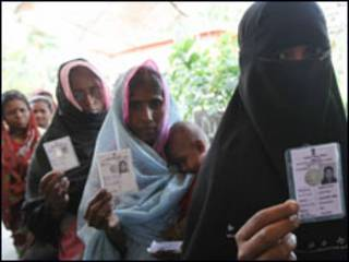बंगाल चुनाव में मुस्लिम महिला मतदाता
