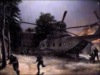 Hình ảnh vẽ lại cuộc tập kích Sơn Tây