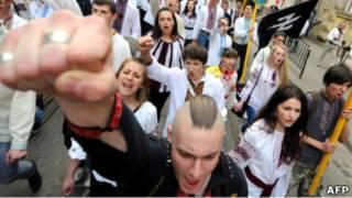Шествие националистов во Львове