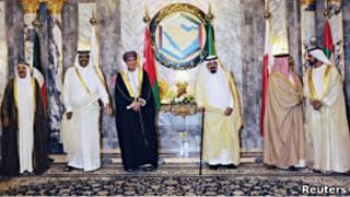 قادة دول مجلس التعاون في قمة الرياض