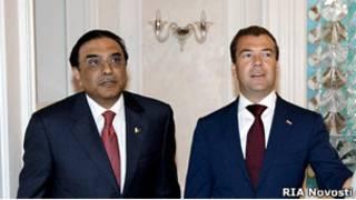 Асиф Али Зардари и Дмитрий Медведев