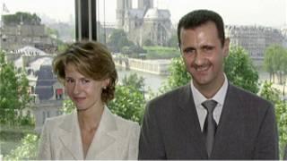 الرئيس السوري بشار الأسد وزوجته أسماء