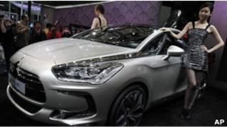 上海國際汽車展上的柴油汽車