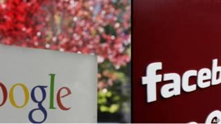 Sedes de Google y Facebook
