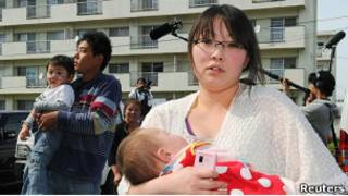Эвакуируемые японцы