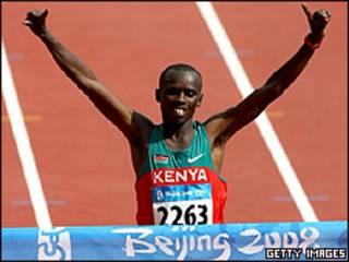 Wanjiru venceu a maratona dos Jogos Olímpicos de Pequim em 2008, com apenas 21 anos (Foto:ALLSPORT/Getty Images)
