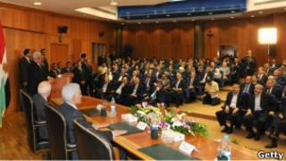 مراسم توقيع اتفاق المصالحة في القاهرة