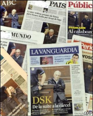 Jornais estampam caso de Dominique Strauss-Kahn nas capas (Foto: AFP)