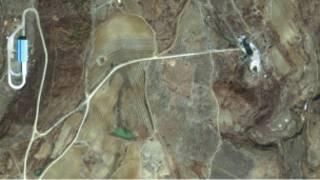 موقع اطلاق صواريخ على الساحل الشرقي لكوريا الشمالية