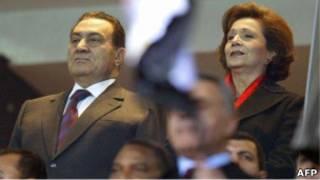 سوزان مبارک و شوهرش حسنی