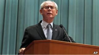 歐洲理事會主席範龍佩在中央黨校講話