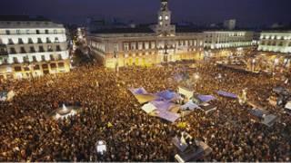 تظاهرات مدريد