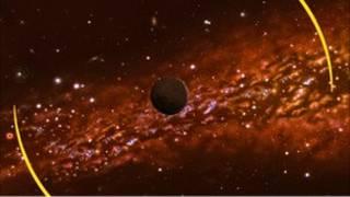 نقاشی هنرمند از یک سیاره بدون ستاره