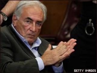 Strauss-Kahn durante audiência nesta quinta (Getty)