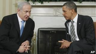 Биньямин Нетаньяху и Барак Обама в Белом доме 20 мая 2011года