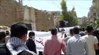 敘利亞抗議