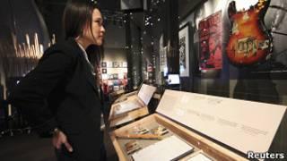 Выставка, посвященная группе Nirvana, в Сиэттле
