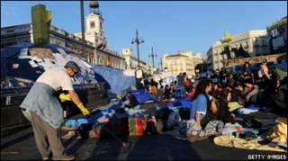 Акція протесту в Мадриді
