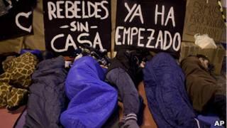 concentración en Puerta del Sol en Madrid