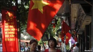 Quang cảnh Hà Nội ngày bầu cử