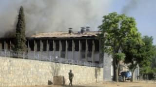 ساختمان ترافیک خوست پس از حمله