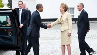 美國總統奧巴馬和愛爾蘭總統麥卡利斯