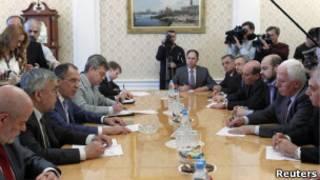 Переговоры Лаврова и палестинцев в Москве