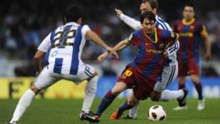 Lionel Messi (áo sọc đỏ xanh)