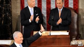 Биньямин Нетаньяху выступает в конгрессе США