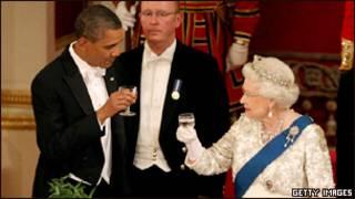 Президент США Барак Обама и королева Великобритании Елизавета II