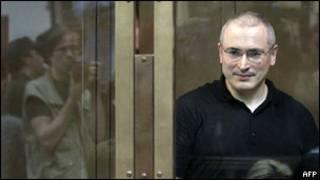 Михаил Ходорковский во время суда