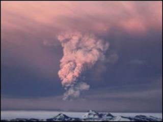 आइसलैंड का ज्वालामुखी