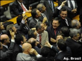 Câmara dos Deputados após votação do projeto de lei (Ag. Brasil)