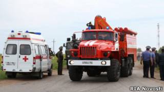 Пожарная машина и машина скорой помощи