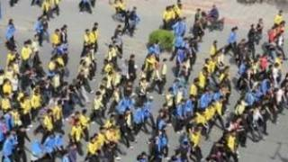 锡林浩特蒙古族学生抗议