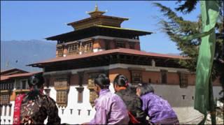 भूटान का एक मठ