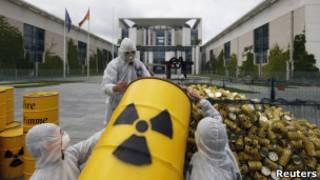 Протесты против атомной энергии в Германии