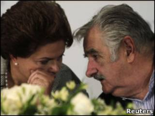 Dilma e Mujica (Reuters)